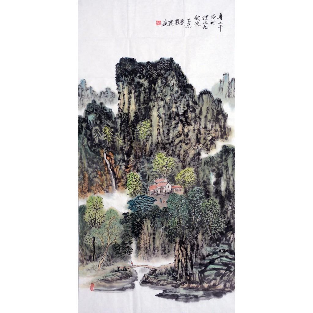 青山千岭树  (138cm*69cm)
