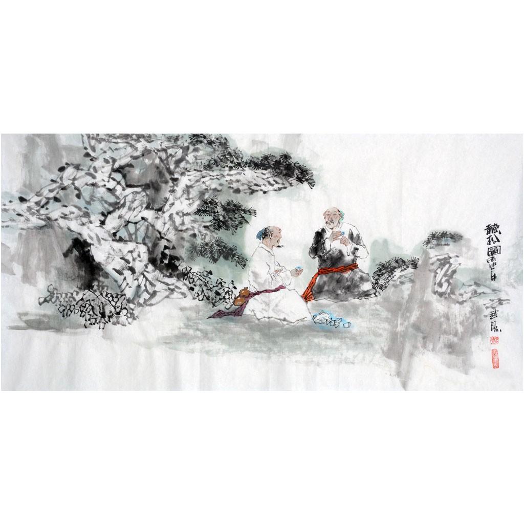 听松图  (138cm*69cm)