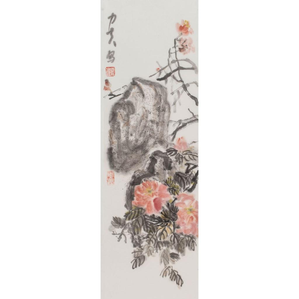 牡丹 (100cm*27cm)