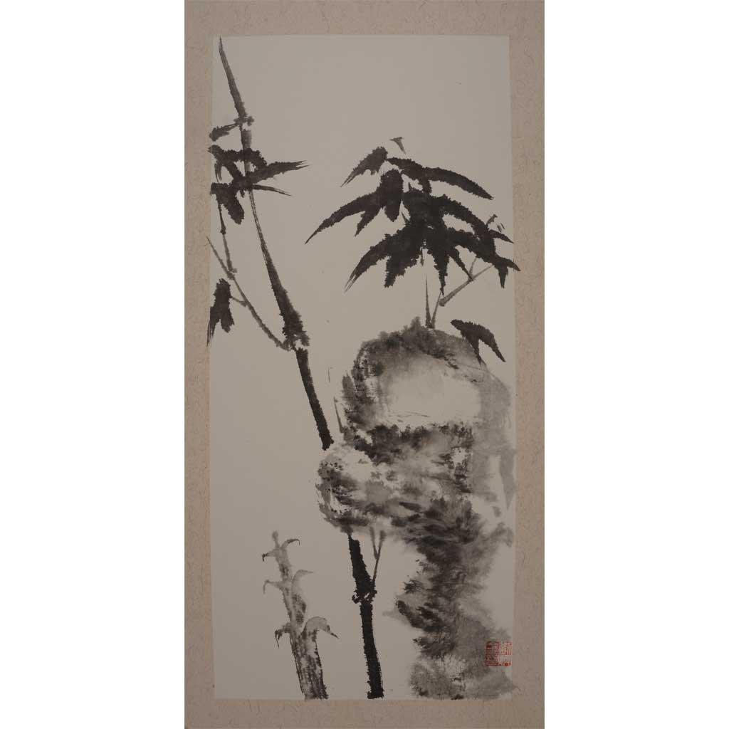 竹石 (66cm*33cm)