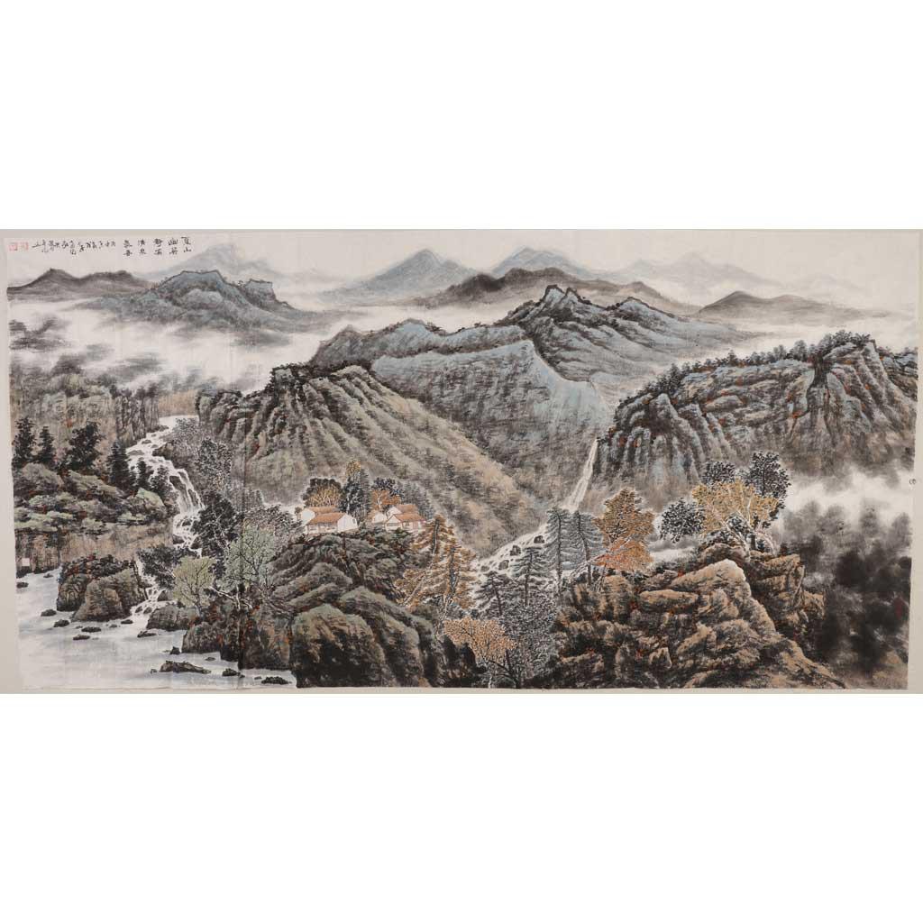 夏山幽居静 溪清泉气香 (248cm*129cm)