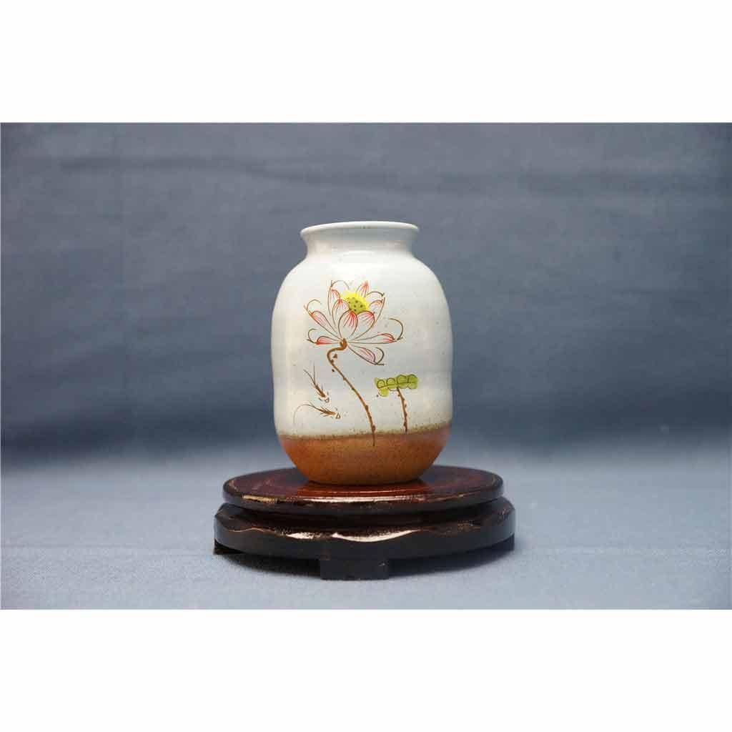 粗陶彩绘花瓶3