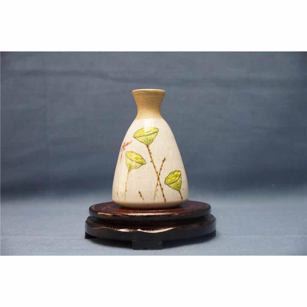 粗陶彩绘花瓶8