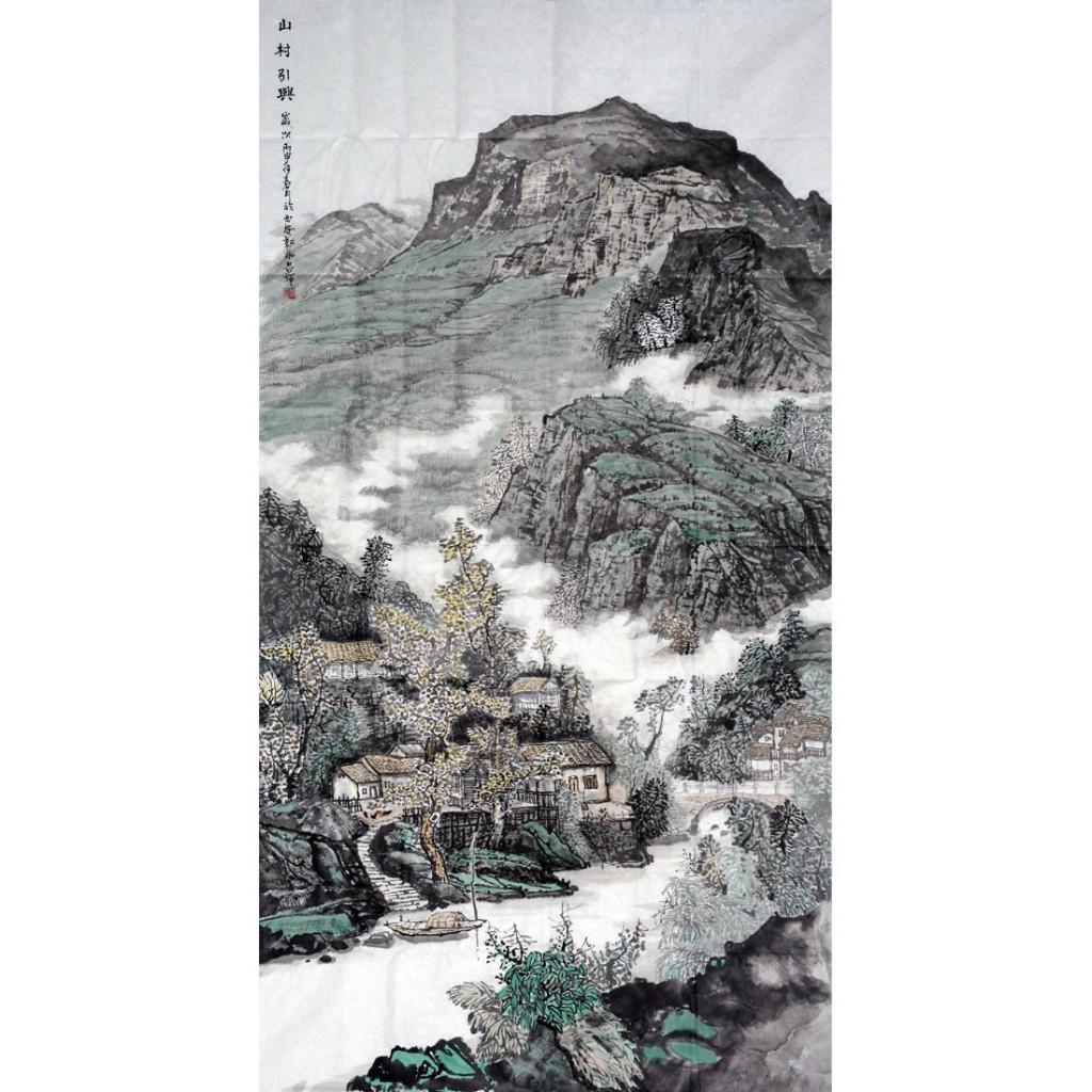 山村引兴  (180cm*97cm)