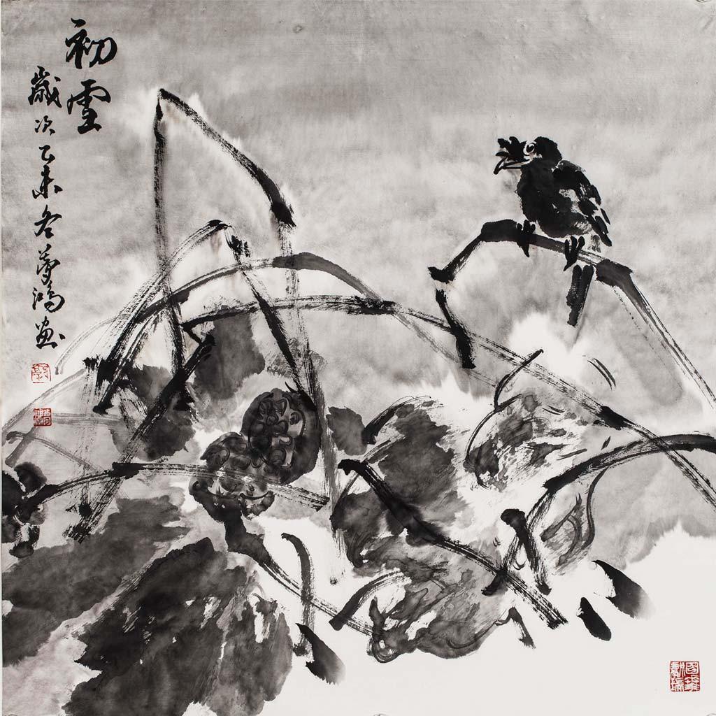 初雪  (69cm*68cm)