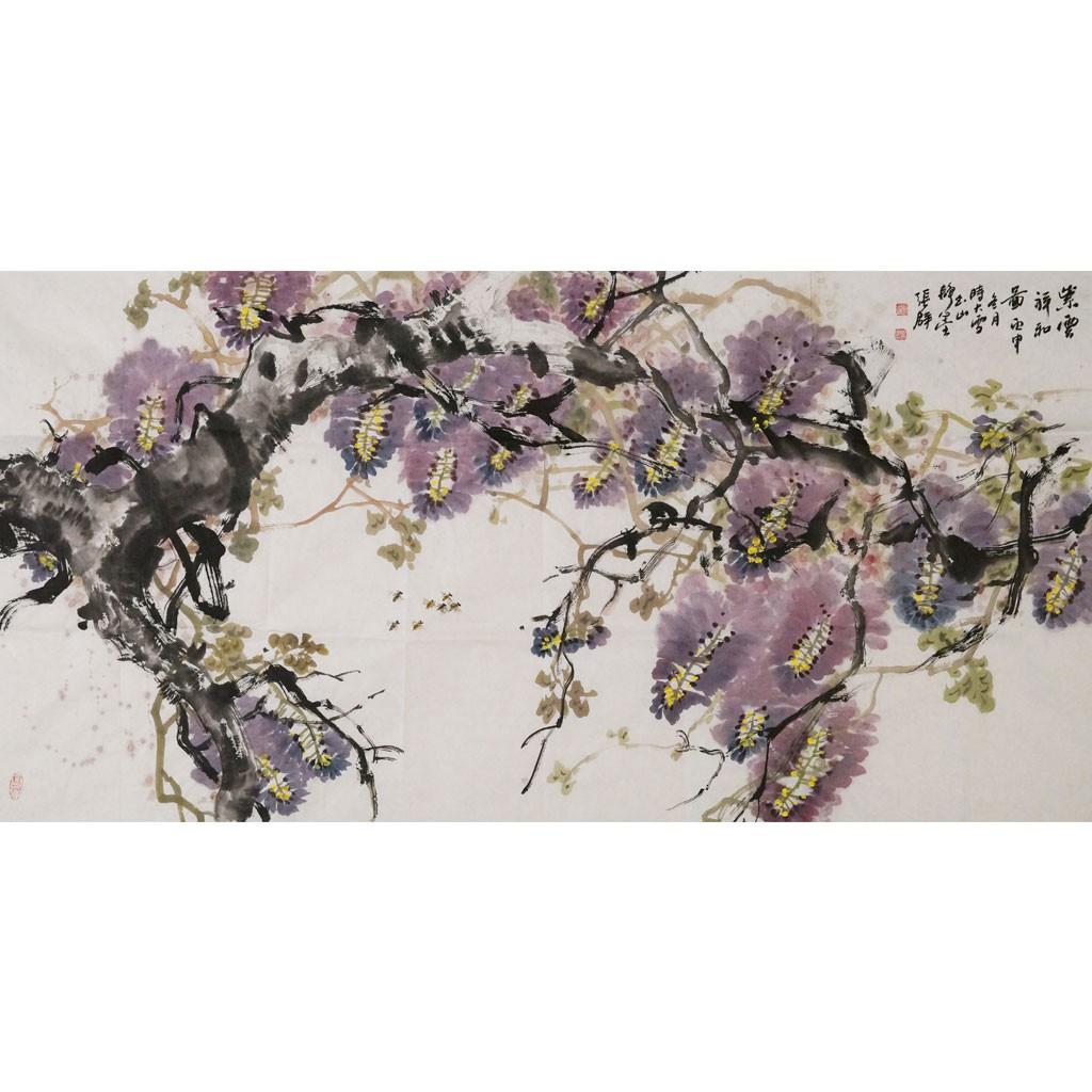 紫云祥和 (138cm*69cm)兰台藏品