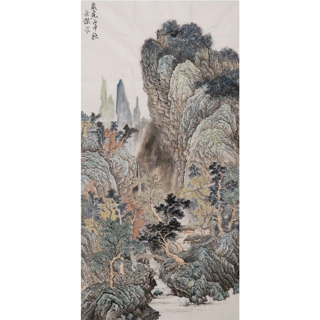 山水 (138cm*69cm)兰台藏品