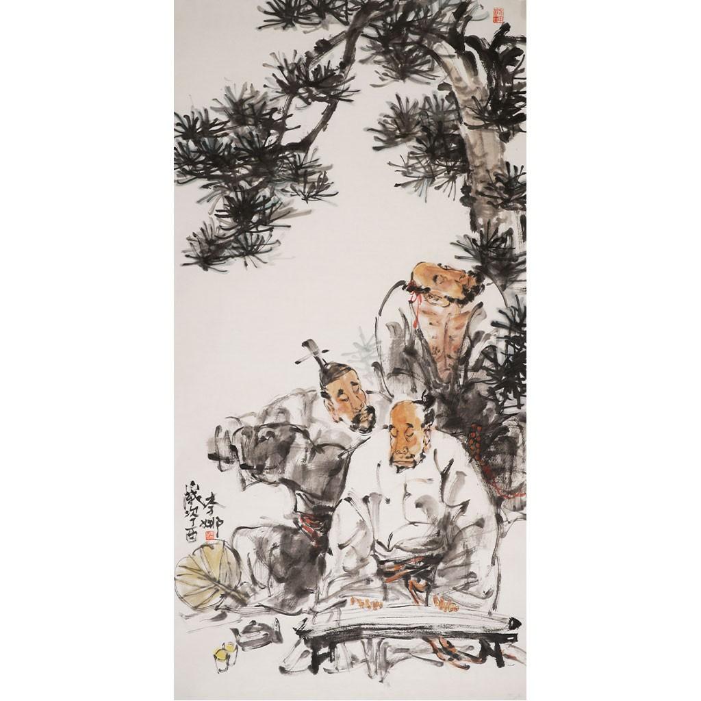高士图 (136cm*68cm)兰台藏品