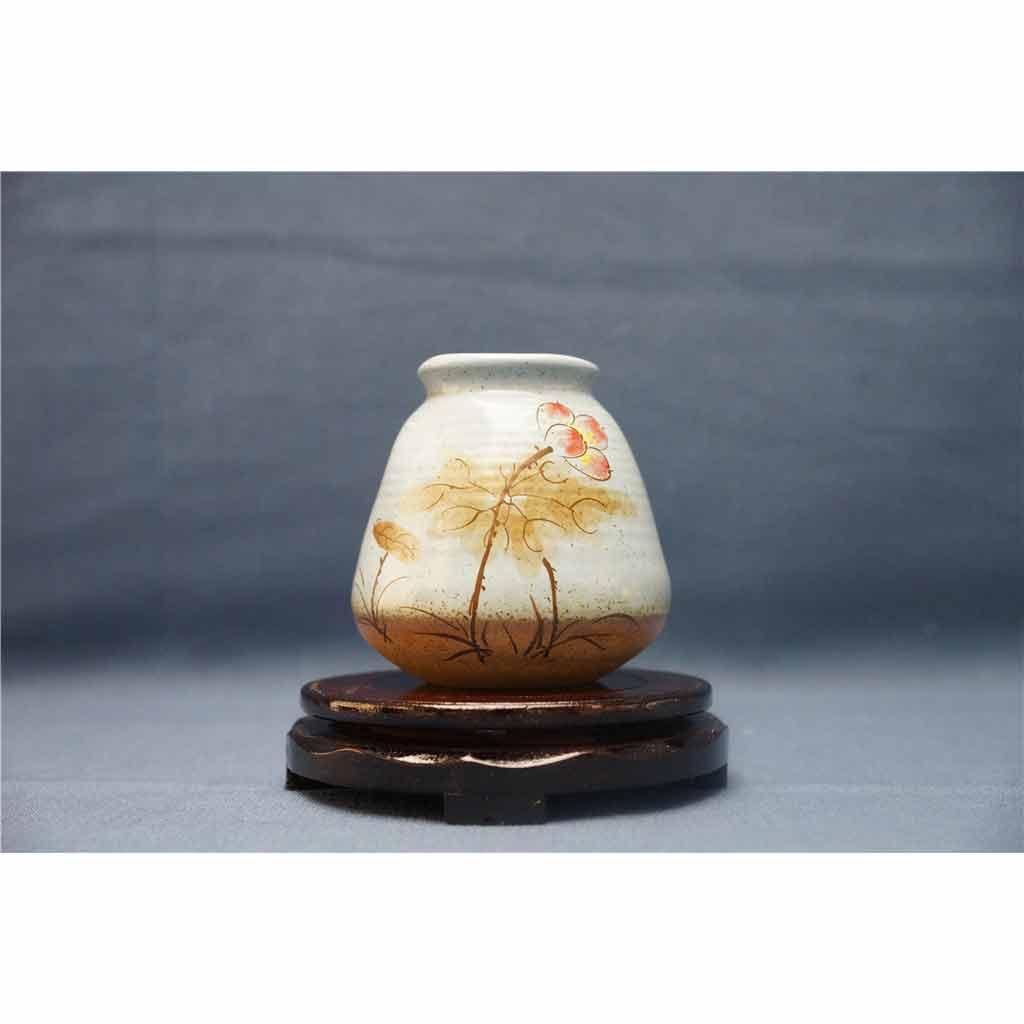 粗陶彩绘花瓶4