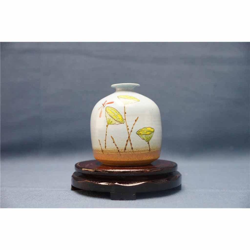 粗陶彩绘花瓶5