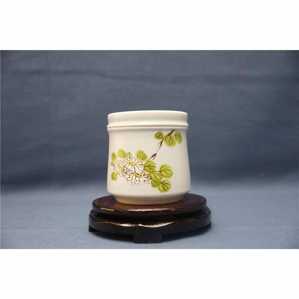粗陶手绘茶叶罐1