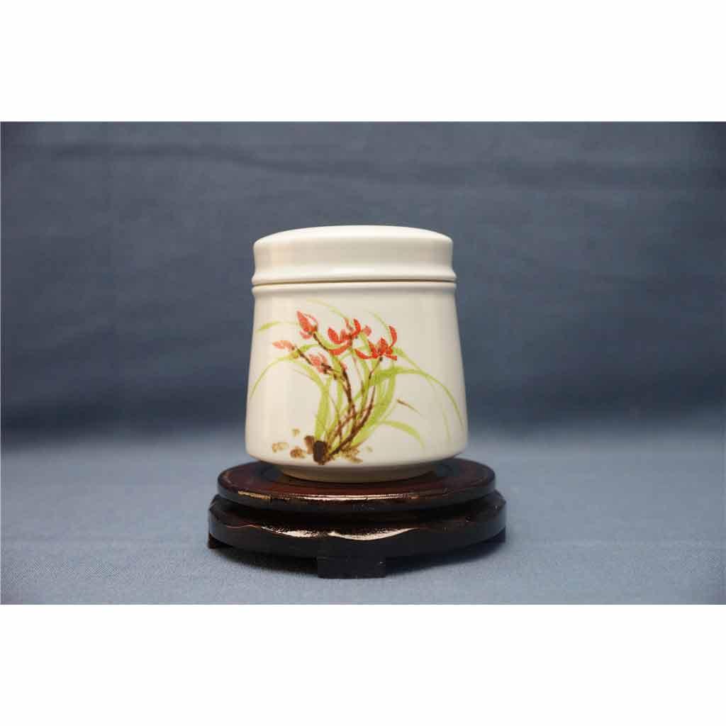 粗陶手绘茶叶罐2