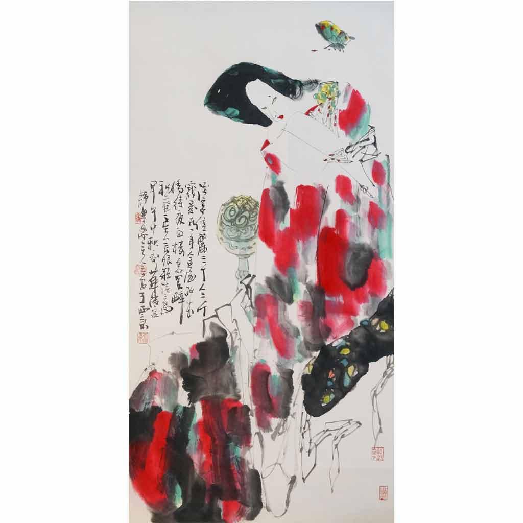 酒宴佳丽三千 (69cm*138cm)
