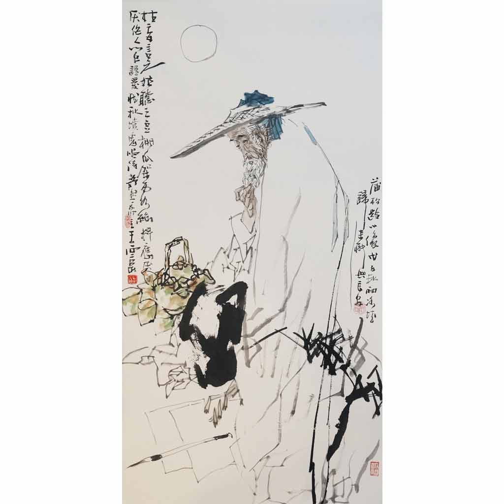 蒲松龄肖像 (68cm*136cm)
