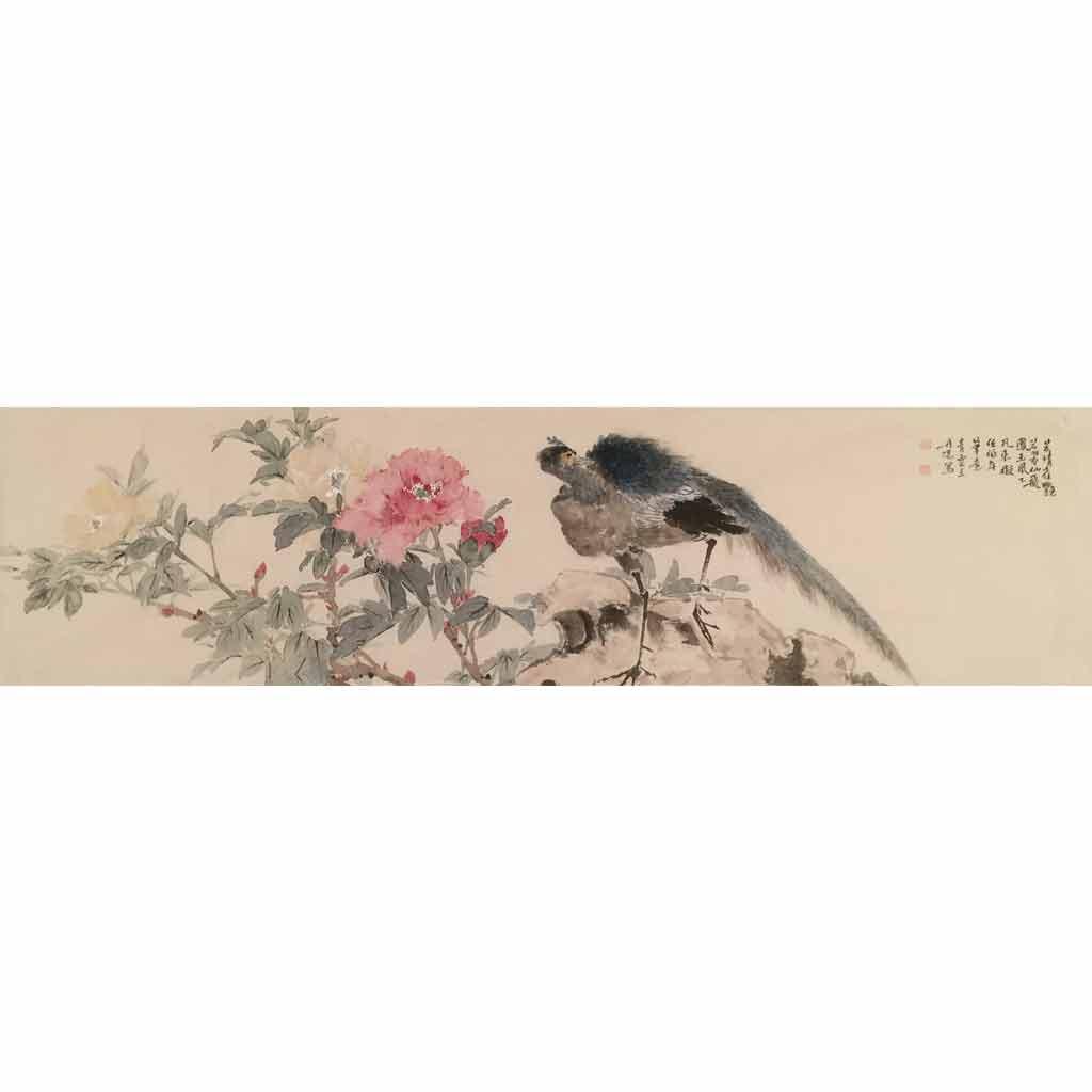 芳情雀艳 (130cm*33cm)